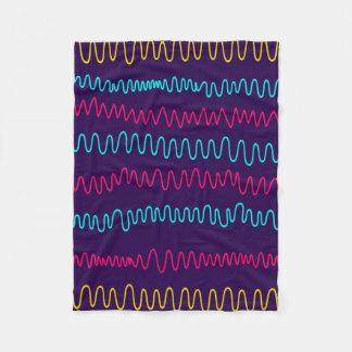Abstract Purple Background Squiggly Lines Fleece Blanket