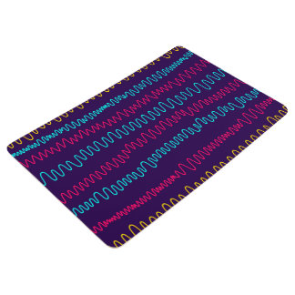 Abstract Purple Background Squiggly Lines Floor Mat