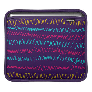 Abstract Purple Background Squiggly Lines iPad Sleeve