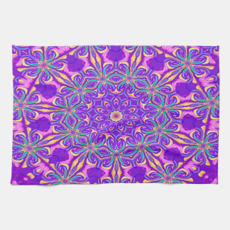 Abstract Purple Background Tea Towel
