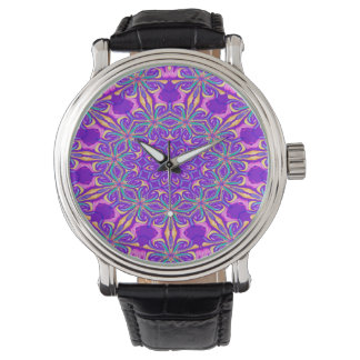 Abstract Purple Background Watch