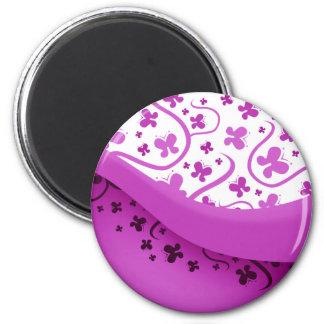 Abstract Purple Butterflies Fridge Magnets