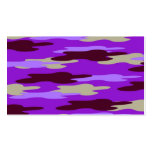 Abstract Purple Camo Camouflage Business Card Template