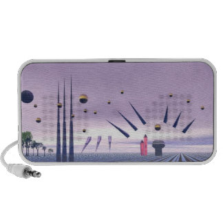 Abstract purple Doodle Speakers