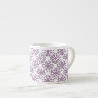 Abstract Purple Flower Espresso Mug 6 Oz Ceramic Espresso Cup
