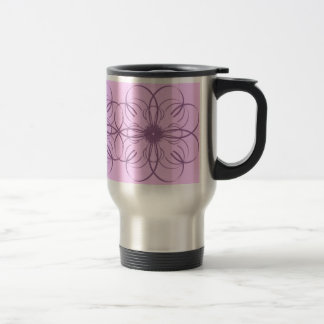 Abstract Purple Flower Travel Mug