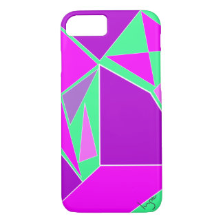 Abstract Purple Green Digital Art Pattern Cool iPhone 8/7 Case
