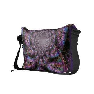 Abstract Purple Kaleidoscope Messenger Bag