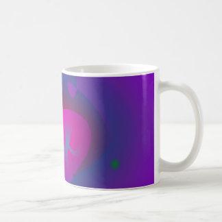 Abstract Purple Nebula Art Basic White Mug