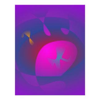 Abstract Purple Nebula Art Full Color Flyer