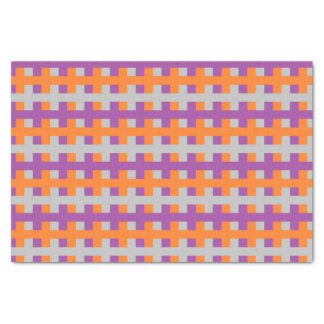 Abstract Purple, Orange and Silver Tissue Paper