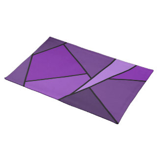 Abstract Purple Polygons Place Mats