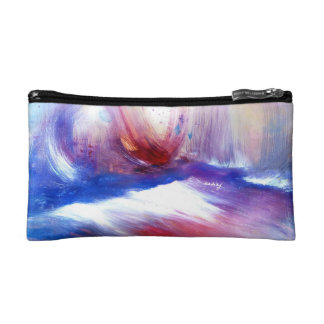 Abstract Purple Shore Bagette Makeup Bag