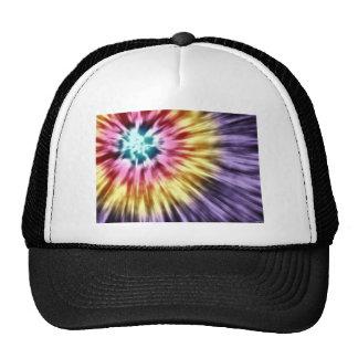 Abstract Purple Tie Dye Cap