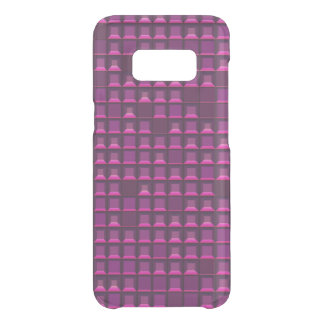 Abstract purple topless pyramid 3D-pattern Uncommon Samsung Galaxy S8 Case