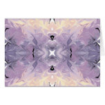 Abstract Purple Yellow Trendy Marble Watercolor Note Card