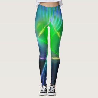 Abstract Pyramid and Energy Power Leggings
