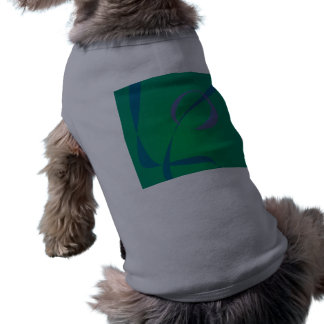 Abstract Rabbit Green Doggie Tshirt
