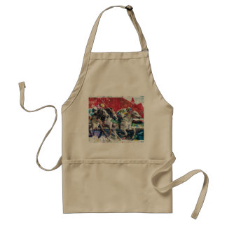 Abstract Race Horses Collage Standard Apron