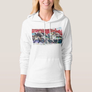 Abstract Race Horses Collage Hoodie