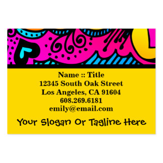 Abstract Rainbow Art High Fashion Boutique Design Business Cards