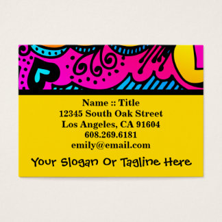 Abstract Rainbow Art High Fashion Boutique Design Business Card