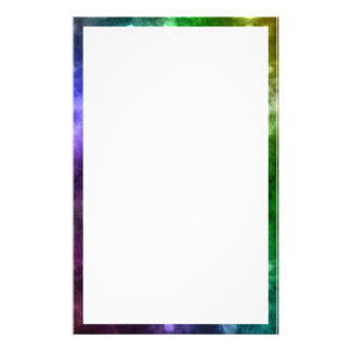 Abstract Rainbow Bokeh Personalised Stationery