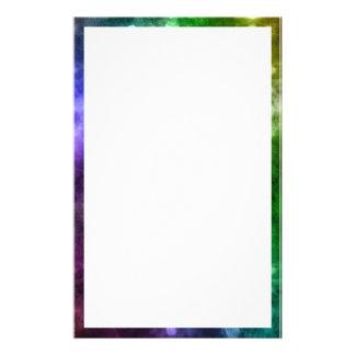 Abstract Rainbow Bokeh Stationery