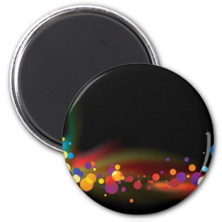 abstract rainbow bubble magnet