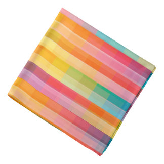 Abstract Rainbow Colors Grid Background Bandana