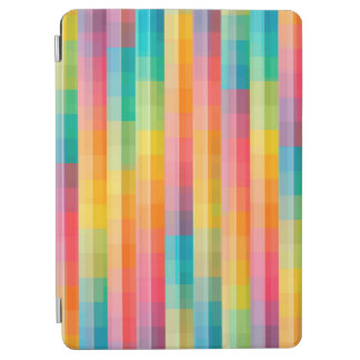 Abstract Rainbow Colors Grid Background iPad Air Cover