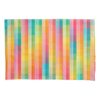 Abstract Rainbow Colors Grid Background Pillowcase