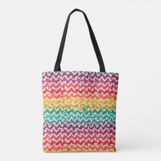 Abstract Rainbow Coloured Tote