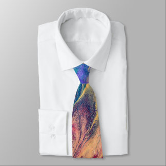 Abstract Rainbow Colourful Painting Original Art Tie