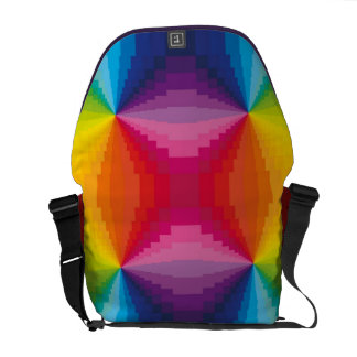 Abstract Rainbow Courier Bag