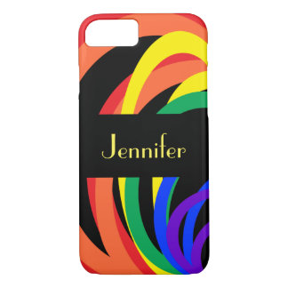 Abstract Rainbow Crescent Pattern iPhone 8/7 Case