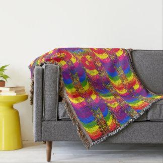 Abstract Rainbow Design Throw Blanket