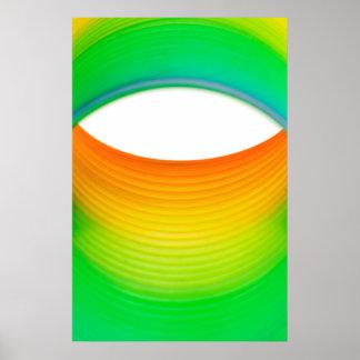 Abstract Rainbow Eye Macro Toy Poster