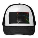 Abstract Rainbow Hair Girl Hat