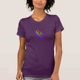 Abstract #Rainbow Heart T-shirt II