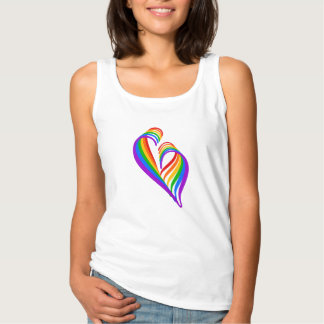 Abstract #Rainbow Heart Tank Top