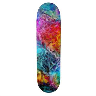 Abstract Rainbow Lava Nebula Skateboard