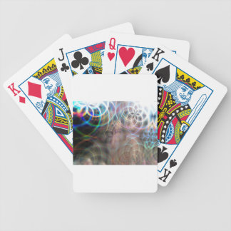 Abstract Rainbow Light Patterns Bicycle Playing Cards