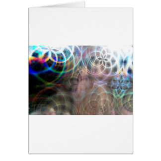 Abstract Rainbow Light Patterns Card