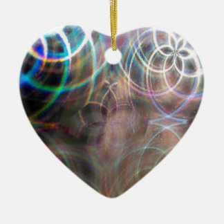 Abstract Rainbow Light Patterns Christmas Ornament