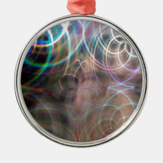 Abstract Rainbow Light Patterns Christmas Ornament