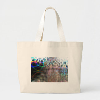 Abstract Rainbow Light Patterns Large Tote Bag