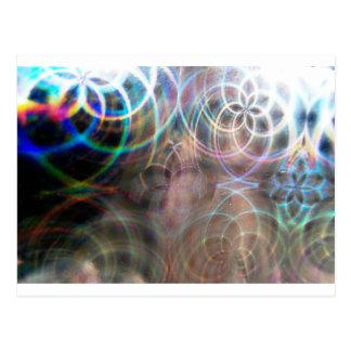 Abstract Rainbow Light Patterns Postcard