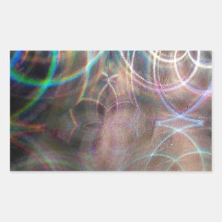 Abstract Rainbow Light Patterns Rectangular Sticker