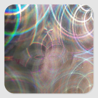 Abstract Rainbow Light Patterns Square Sticker